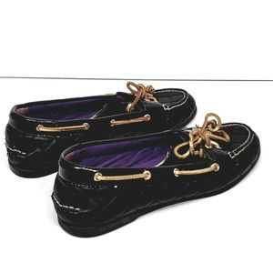 SPERRY TOP-SIDER audrey black quilt leather shoe